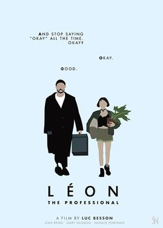 Leon: The Professional (starred Jean Reno and Natalie Portman) mininalist movie poster design