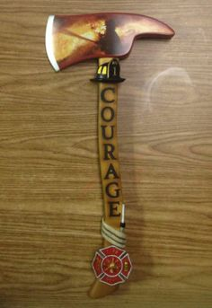 "Keepsake Firefighter Symbol of Courage ""The Edge of Valor"" Bradford Exchange"