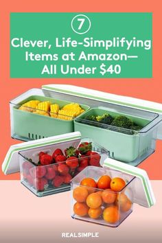 7 Brilliant, Life-Simplifying Items That Just Launched at Amazon—All Under $40   We love a clever product here at Real Simple, and these are some of our favorite Amazon finds that will help you save time, get organized, reduce your waste, and generally upgrade your life in more ways than one. #cleaningtips #cleanhouse #realsimple #stepbystepcleaning #cleaninghacks #cleaningguide Paint Storage, Laundry Hacks, Food Waste, Real Simple, Laundry Detergent, Fruits And Veggies, How To Run Longer, Getting Organized, Clean House