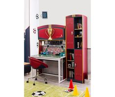 Soccer Desk With Unit