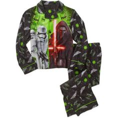 Boys' Licensed 2 Piece Poly Button Front Pajama Sleepwear Set, Available in 24 Characters, Size: 4/5