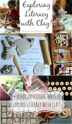 Letter-stamped clay and other ways for exploring literacy with clay