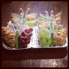 Healthy butterfly snacks for the local Brownie Troop!