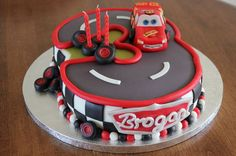 cars themed birthday party cakes                              …