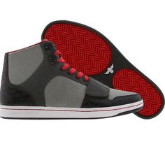 Creative Recreation Cesario men's shoes in charcoal, grey, and red