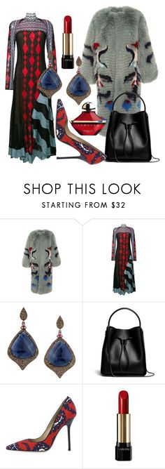 """""""Readily Teal"""" by fashionforwarded ❤ liked on Polyvore featuring Alena Akhmadullina, Peter Pilotto, Bavna, 3.1 Phillip Lim, Dsquared2, Lancôme, Guerlain and oversizedcoats"""