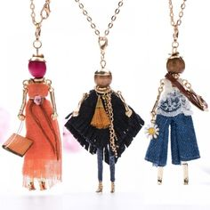 Online Shop Europe And The United States 2018 New Doll Pendant Necklace Women Long Chain Fashion Statement Jewelry collier femme Trendy Jewelry, Jewelry Accessories, Fashion Jewelry, Cheap Necklaces, Silver Necklaces, Silver Wings, New Dolls, Fairy Dolls, Necklace Types