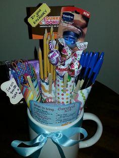 New Job Survival Kit Gift Basket | Custom Gifts.. Baskets ...