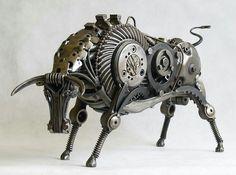 El toro de chatarra de Tomas Vitanovsky
