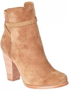 Brown suede heeled bootie // Rigby Boots by Joie
