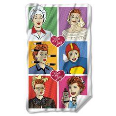 I Love Lucy Comic Fleece Blanket