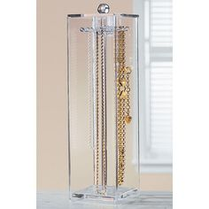 If you are bored of the same old and classic displays that are regularly used in jewelry stores, then you need to get the Elegant Tall Necklace Stand, Holder & Organizer for Long Necklaces. Keep Jewelry, Jewelry Case, Jewelry Box, Jewelry Necklaces, Long Necklaces, Diy Jewelry, Bracelets, Glass Necklace, Silver Jewelry