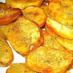 Kartoffelscheiben mit Rosmarin