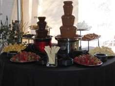 perhaps this look for the chocolate fountains?