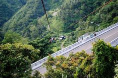 Zip line addicts can zoom their way into a new thrill in the 860-meter cable in Agas Agas Bridge, the country's tallest (and perhaps among the most expensive) located in Sogod, Southern Leyte. This new spot is quite unique because of its steep which will send riders flying over a P 1.02 billion, 75-meter tall bridge with a panoramic mountain view. Stuff To Do, Things To Do, Leyte, Mountain View, More Fun, Bridge, Cable, Southern, Zip