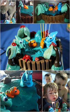 Dinosaur Train Cake. MOGSLEE & TIGER GROWING BOYS Dinosaur Train Cakes, One Thousand, About Me Blog, Party Ideas, Joy, Posts, Activities, Kids, Crafts
