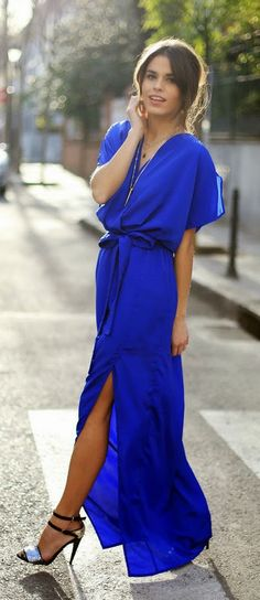 Everyday New Fashion: BLUE KLEIN LONG DRESS