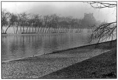 Henri Cartier-Bresson -  Paris, France. 1956. The Seine and the Palais du Louvre (view from Quai Anatole France