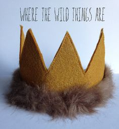 Nevermind Henry - Dress Up Photo Prop Crown - Max Felt Crown - Where the Wild Things Are - Party Crown on Etsy, $20.50