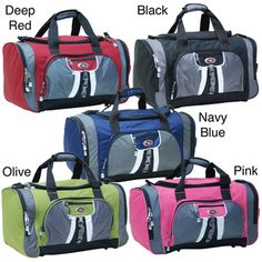 @Overstock.com - Crafted in classic duffel style, this 27-inch CalPak Hollywood duffel bag is perfect for transporting sports or cheerleading gea, and is ideal for traveling, too. Available in a number of fantastic colors, this bag is wonderfully dependable.  http://www.overstock.com/Luggage-Bags/CalPak-Hollywood-Solid-27-inch-Lightweight-Polyester-Unisex-Duffel-Bag/3443011/product.html?CID=214117 $27.44