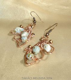 art nouveau wings - wire wrapped earrings Wire Wrapped Earrings, Drop Earrings, Wire Work, Wire Wrapping, Art Nouveau, Wings, Brooch, Brooches, Drop Earring