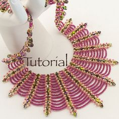 Beaded Necklace Tutorial Spider's Kiss Digital Download RAW Superduos, 2 colors 11s, 15s