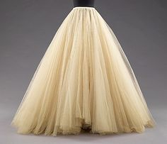 Evening skirt  House of Balenciaga  (French, founded 1937)  Designer: Cristobal Balenciaga (Spanish, 1895–1972) Date: 1950–59 Culture: French Medium: silk Dimensions: Length at CB: 51 in. (129.5 cm)