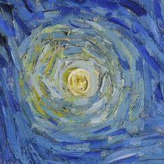 Starry Night (detail) by Vincent van Gogh   Lone Quixote   #VincentvanGogh…