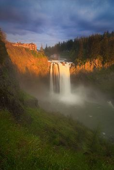 ~~Snoqualmie Falls ~ epic waterfall on the Snoqualmie River between Snoqualmie and Fall City, Washington by Deej6~~