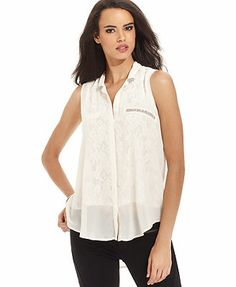 GUESS Lace Chiffon Blouse Packing List For Cruise, Lace Chiffon, Cool Style, My Style, White Lace, Blouse Online, Shopping, Tops, Christmas