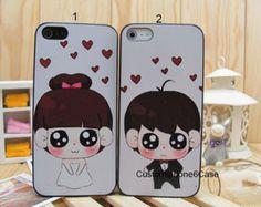 Best Friends phone Cases apple i iPhone 4 4s case,iphone 5 5s case,iphone 5C Covers,Lover Couples Custom Cartoon Cute Kawaii Case