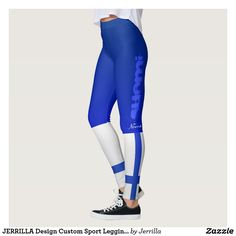 JERRILLA Design Custom Sport Leggings Suomi blue