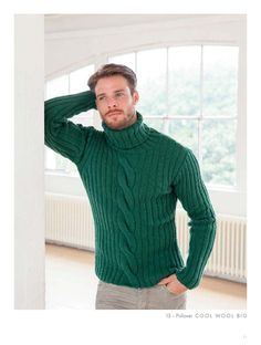LANA GROSSA's wide range of products offers high-quality knitting, crocheting and felting yarns for the spring/summer as well as fall/winter season. Sweater Jacket, Men Sweater, Fashion Art, Mens Fashion, Beautiful Men Faces, Knitting Designs, Sweater Weather, Turtle Neck, How To Wear