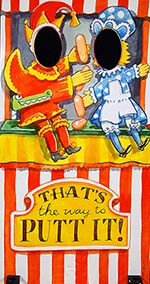 Seaside Photo Cutout Boards Circus Theme Party Punch And