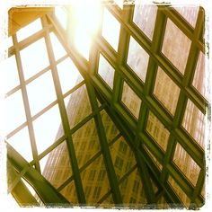 Seattle Central Library: Why marvel at the curious architecture from the outside? Turn the experience inside out and head up to the 10th Floor of the #Seattle Central Library for a perspective Seattleites never expected. #JetsetterCurator #Cosmopolitan