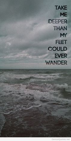 Oceans image with quote