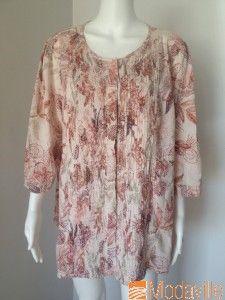 Calvin Klein floral print cotton blouse http://www.modaville.com/store/shop/all/calvin-klein-floral-print-cotton-blouse/