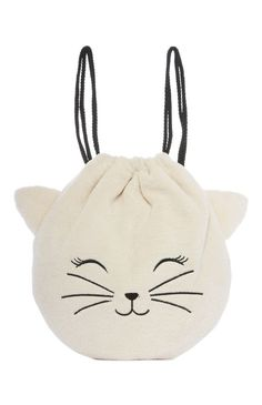Primark Fluffy Cat Kit Bag Primark Fluffy Ca+ Fluffy Kittens, Fluffy Cat, Fabric Crafts, Sewing Crafts, Sewing Projects, Handmade Bags, Handmade Crafts, Cat Bag, Fabric Bags