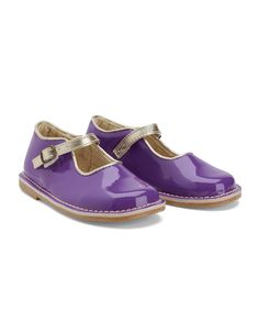 Little Bird by Jools Purple Patent Shoes