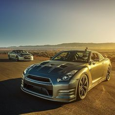 Nissan GT-R having fun on the airstrip