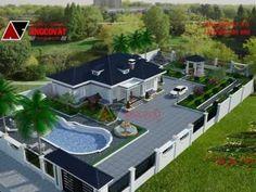 u thi? House Plans Mansion, Luxury House Plans, Luxury Homes Dream Houses, Dream House Plans, Classic House Design, Bungalow House Design, Modern House Design, House Outside Design, House Front Design