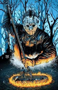 Happy Friday the 13th! Jason Voorhees by Malevolent Nate aka Nathan Thomas Milliner.