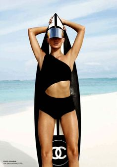 "Annabella Barber by Simon Lekias for Harper's Bazaar.Swimsuit ""so Many suits, so little Summer"""