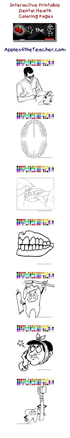 Dental coloring pages tooth fairy pinterest for Dental health month coloring pages