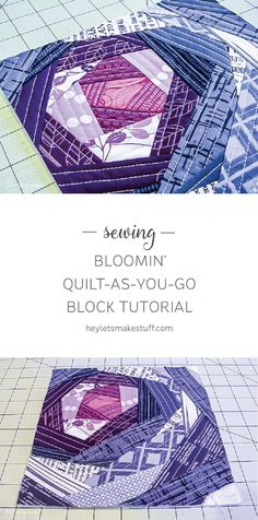 Quilt-As-You-Go is so much more than just log cabins! Try this new Bloomin' quilt-as-you-go technique for a fun effect.
