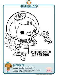 octonauts printable coloring pages | mewarnai | party ideas ... - Octonauts Coloring Pages Print