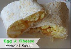 Easy Recipe: Egg and Cheese Breakfast Burrito #breakfastrecipes