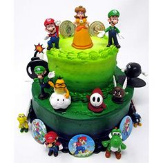 bolo super mario fake #bolomario #bolosupermario #festamario #mariobros Mario Birthday Cake, Super Mario Birthday, Super Mario Party, Birthday Party Games, Birthday Cake Toppers, Boy Birthday, Birthday Cakes, Super Mario Bros, Bolo Super Mario