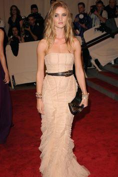 Met Ball 2010: American Women: Fashioning a National Identity. Rosie Huntington-Whiteley.