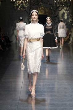 Discover clothing, shoes, bags and accessories designed by Dolce&Gabbana: the new collection with its unmistakable style is online. Lace Skirt, Sequin Skirt, Stefano Gabbana, Spring Summer 2015, Peplum Dress, Ready To Wear, Fashion Show, Clothes For Women, My Style